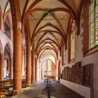 Heidelberg - Heiliggeistkirche - Südschiff - Blick von Westen in die Schiffe, auf die Nordempore und in den Chor (aufgenommen im Oktober 2015, am frühen Nachmittag)