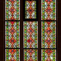 Heidelberg - Heiliggeistkirche - Südschiff - 2. Joch, von Westen aus gezählt - Gesamtaufnahme des Ornamentfensters (aufgenommen im Oktober 2015, am Nachmittag)