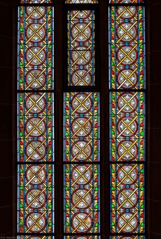 Heidelberg - Heiliggeistkirche - Südschiff - 4. Joch, von Westen aus gezählt - Ausschnitt aus dem Ornamentfenster (aufgenommen im Oktober 2015, am späten Nachmittag)