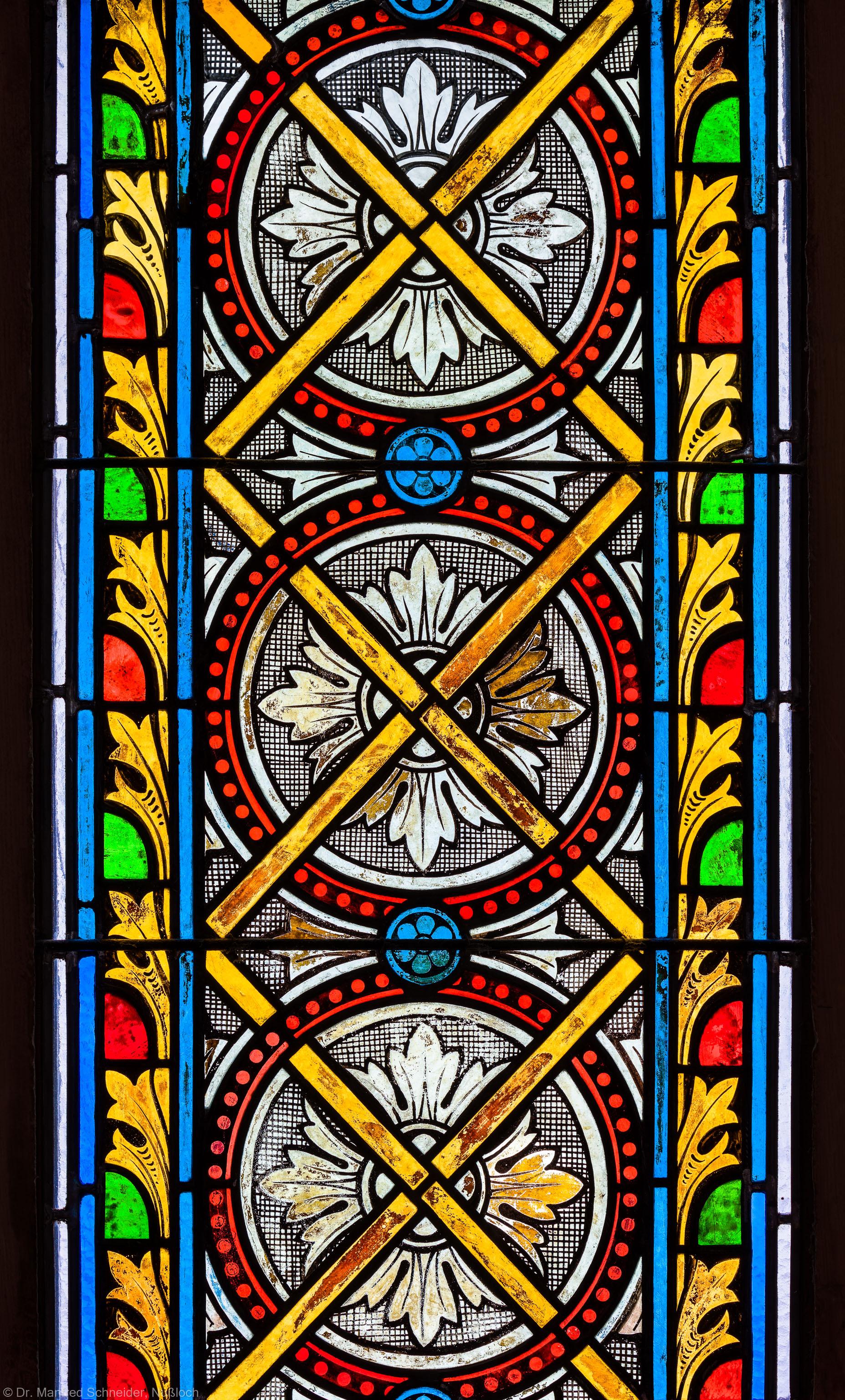 Heidelberg - Heiliggeistkirche - Südschiff - 4. Joch, von Westen aus gezählt - Feld des Ornamentfensters (aufgenommen im Oktober 2015, am späten Nachmittag)