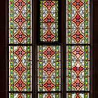 Heidelberg - Heiliggeistkirche - Südschiff - 3. Joch, von Westen aus gezählt - Gesamtaufnahme des Ornamentfensters (aufgenommen im Oktober 2015, am Nachmittag)