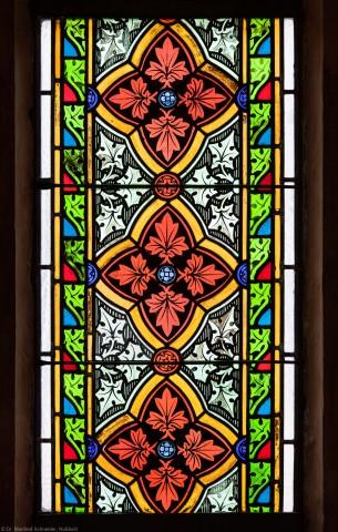 Heidelberg - Heiliggeistkirche - Südschiff - 3. Joch, von Westen aus gezählt - Feld (mittlere Bahn, zweite Zeile) des Ornamentfensters (aufgenommen im Oktober 2015, am Nachmittag)