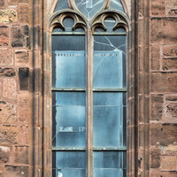 Heidelberg - Heiliggeistkirche - Südseite - 1. Fenster des Südschiffs, von Westen aus gezählt - Blick auf das
