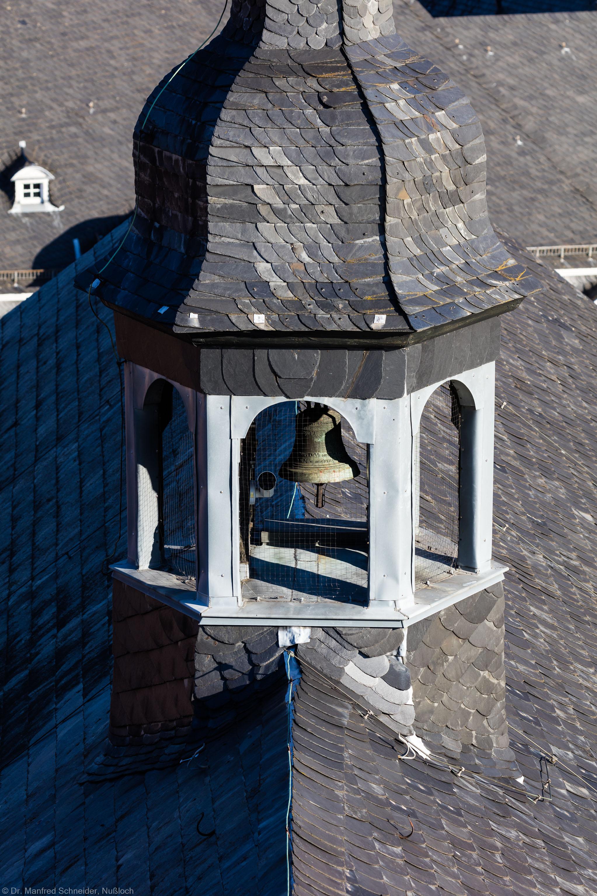 Heidelberg - Heiliggeistkirche - Dach - Blick auf den Dachreiter mit der Scheideglocke (aufgenommen im November 2015, am Nachmittag)