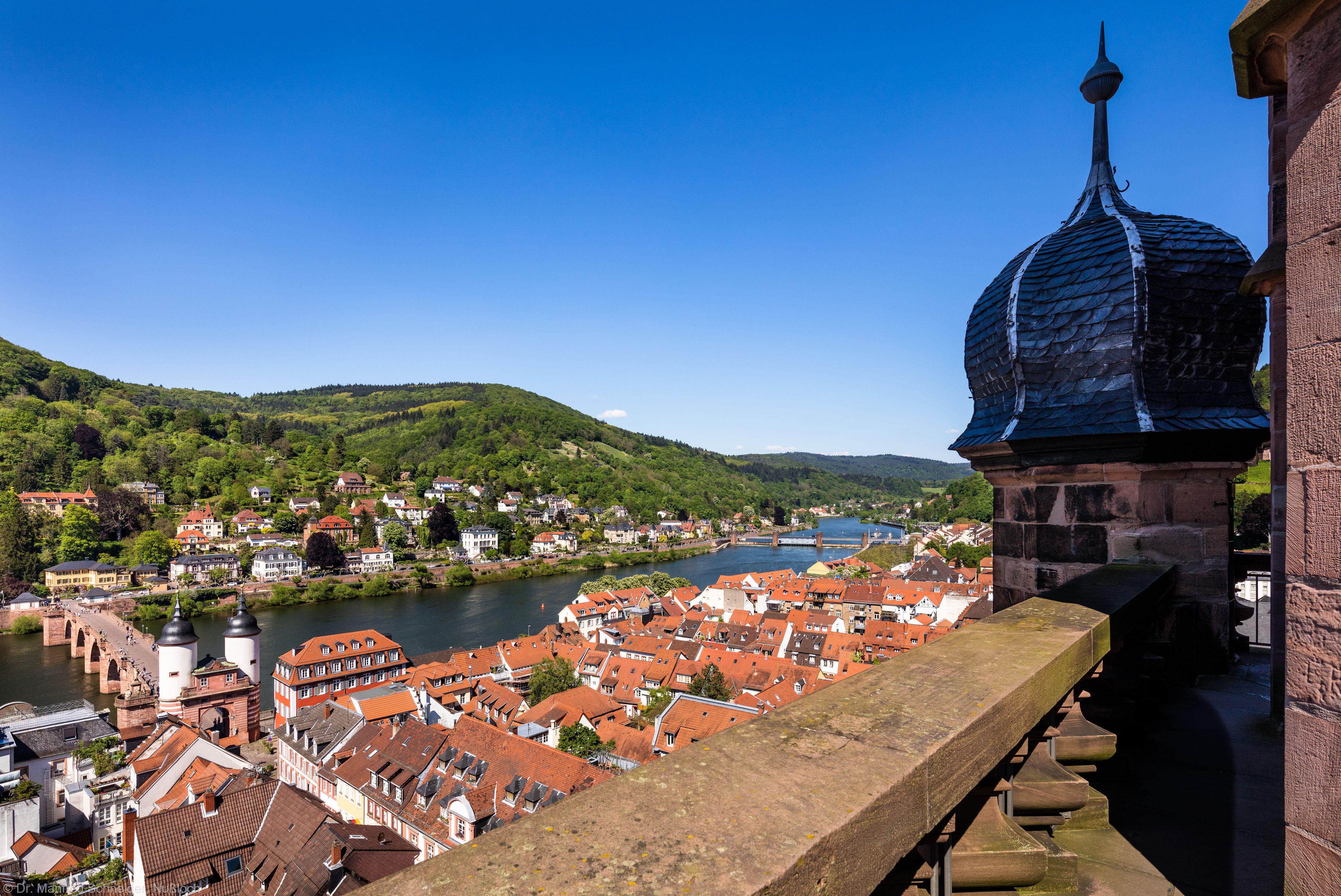 Heidelberg - Heiliggeistkirche - Umgebung - Blick vom Turm nach Nordosten (aufgenommen im Mai 2016, am Nachmittag)